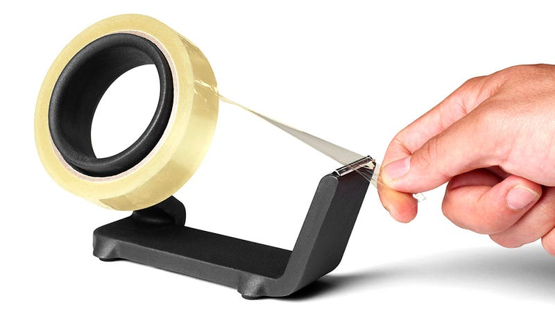 A Two-Pound Cast Iron Tape Dispenser Guarantees One-Handed Operation