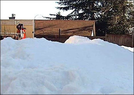 Real-World Calvin Builds Snow Machine, Creates Backyard Mountain Overnight