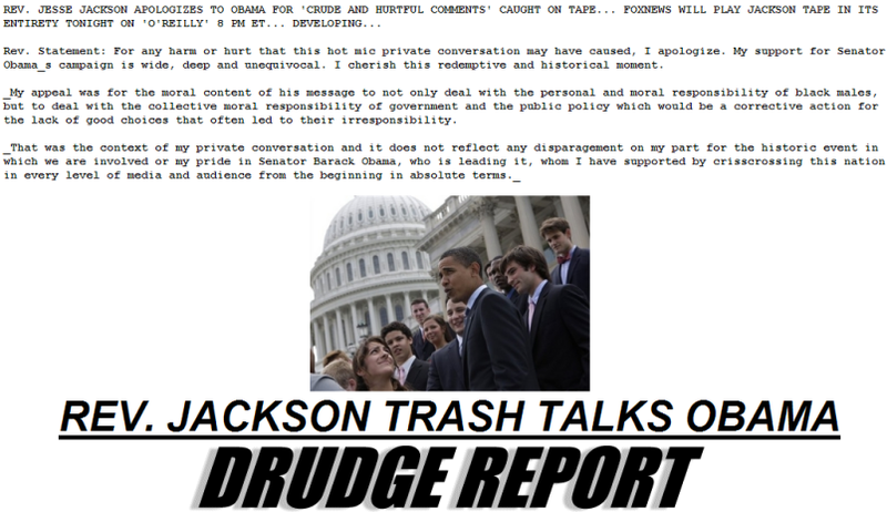 "Jesse Jackson To Threaten Obama's ""Nuts"" Tonight On Fox News"