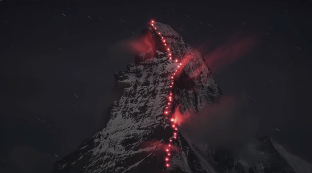 Mountaineers Lit the Matterhorn to Celebrate 150 Years of Climbing