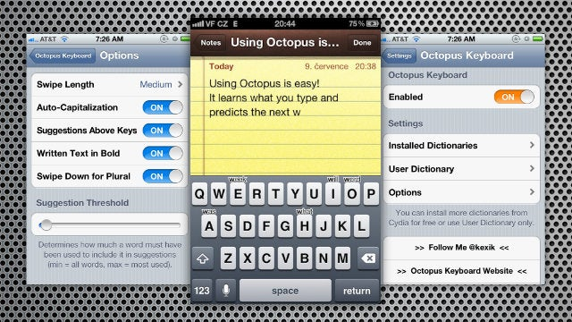 Octopus Keyboard Adds BlackBerry-Style Predictive Text Typing to the iPhone