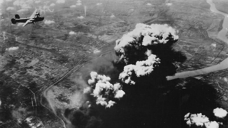 Watch this B-24 Liberator bomb Budapest