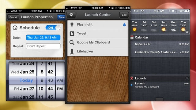 Launch Center Adds Handy App and Settings Shortcuts to Notification Center