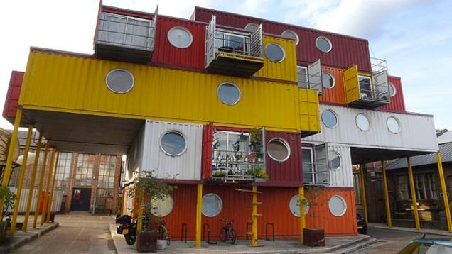 The greatest homes made from shipping containers around for Maison container 91