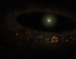 Why did all the planet-forming dust around this star disappear in only three years?