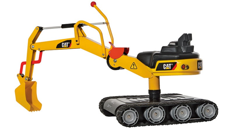 Working Tank Treads Keep This Caterpillar Digger For Kids From Getting Stuck