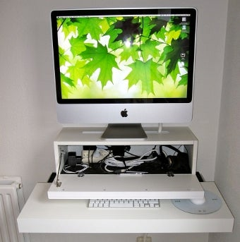 Turn IKEA Cabinets Into a Cordless Desktop Stand