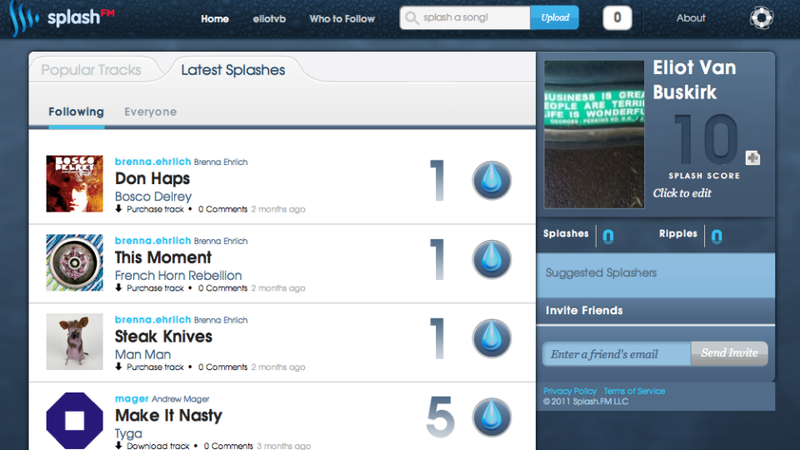 Splash.fm Launches 'Twitter for Music' to Public