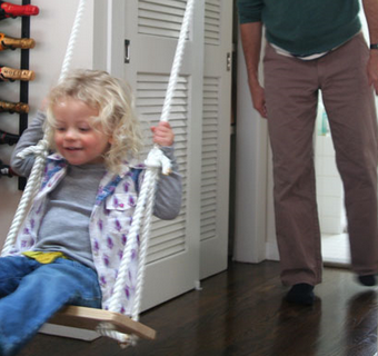 Install an Indoor Swing to Stave Off Winter Blues