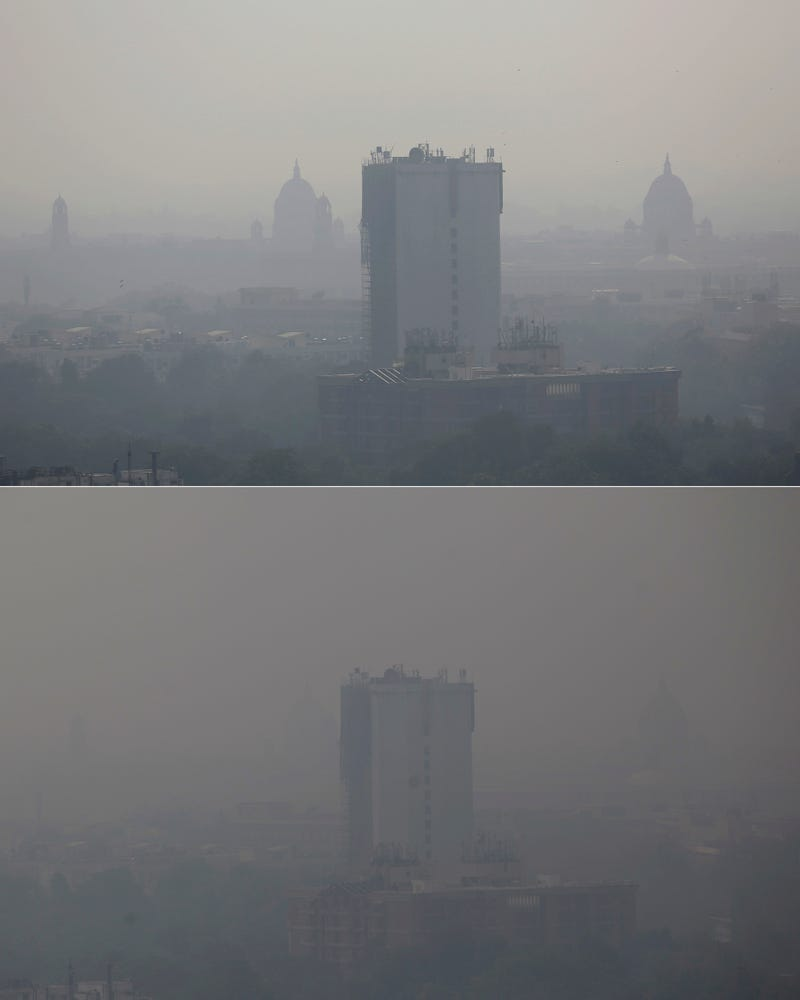Disturbing Images Show the Extent of Delhi's Extreme Pollution Emergency