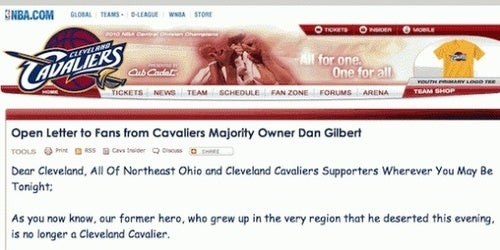 Cleveland Has A Better Record Than Miami, And Dan Gilbert Does Not Regret A Thing