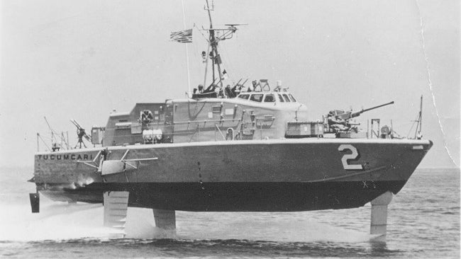 A Turbine-Powered Hydrofoil Gunboat? Why, Yes!