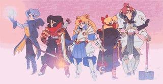 Sailor Moon Looks Utterly Badass As A Fantasy RPG Warrior