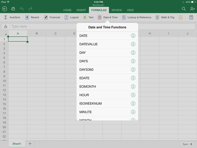 Microsoft Office for iPad: Full Video Walkthrough and Hands On