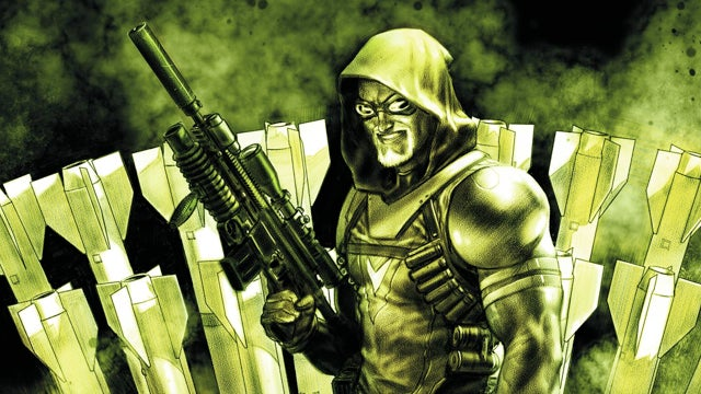 In comics, Green Arrow trades bows for missiles and House MD goes Lovecraft