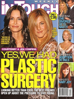 This week in tabloids aniston pops the question madonna s quot affair