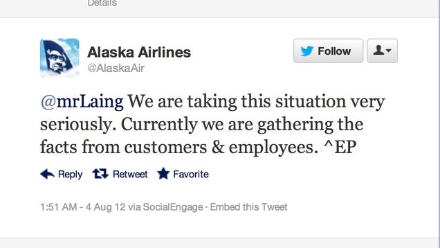 Crazy Message Left On Broken Wing By Alaska Airlines' Maintenance Crew