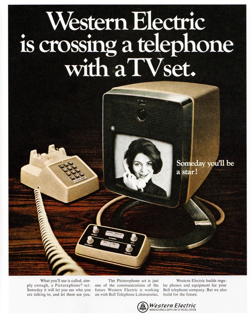 Crossing a telephone with a TV set in 1968