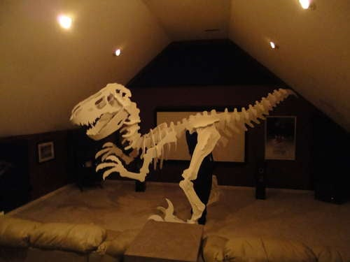 This T-Rex skeleton costume is absolutely insane