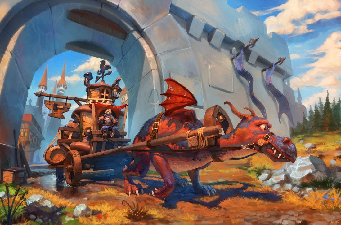 Concept Art Writing Prompt: A Dragon-Powered Journey