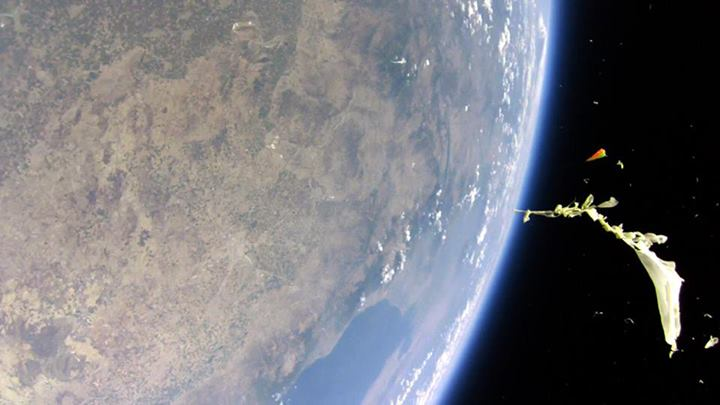 That moment when a high-altitude balloon ventures a little too high
