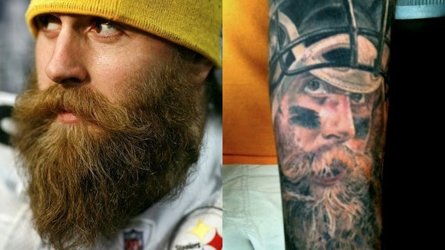 Brett Keisel's Neptunian Beard Will Be Forever Commemorated On This Idiot's Forearm