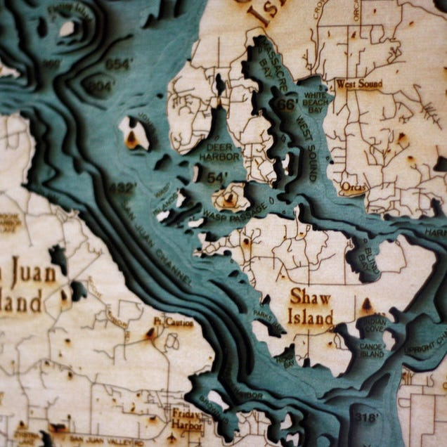 I'm Obsessed With These Three-Dimensional Wooden Maps
