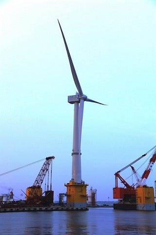 This Huge Wind Turbine Floating on Water Is Fukushima's Energy Solution