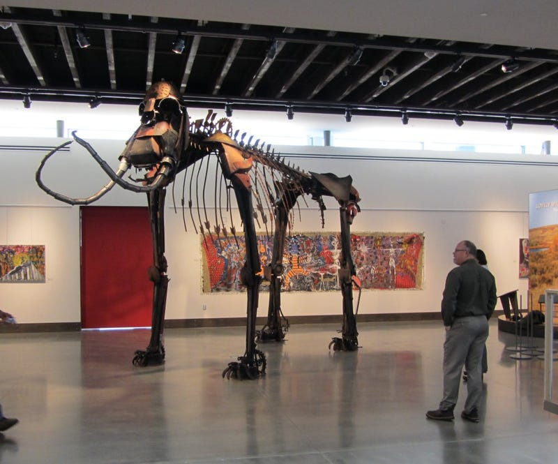 A One-Ton Metal Mammoth Made from Old Farm Equipment