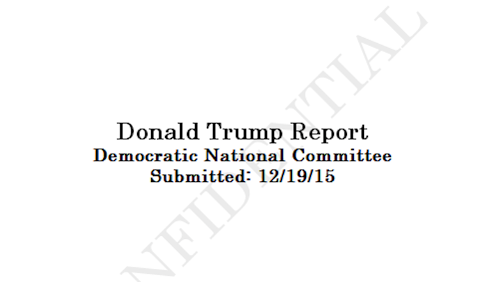 This Looks Like the DNC's Hacked Trump Oppo File
