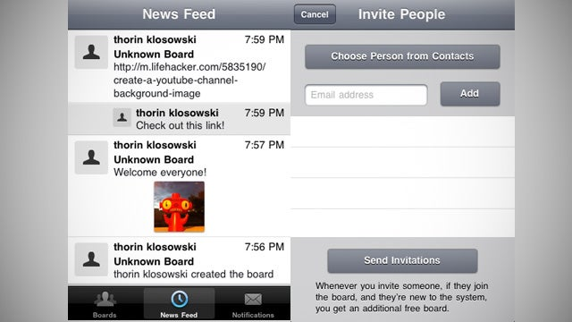 Glassboard is a Cross-Platform Private Chat Board for iOS, Android and WP7