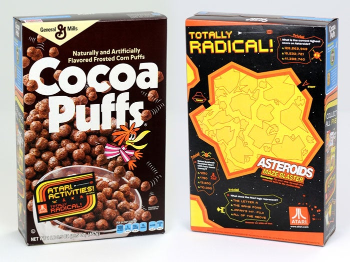 Find Retro Atari Classics on the Back of Specially Marked Boxes of General Mills Cereal
