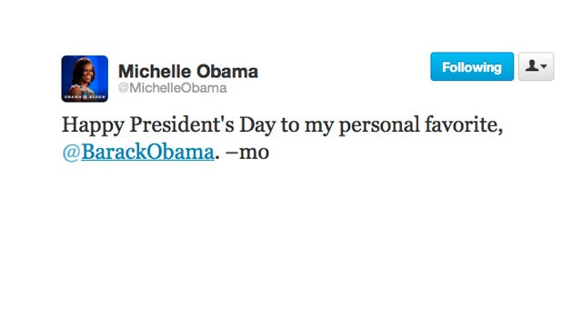 Michelle Obama Is Playing Favorites on President's Day