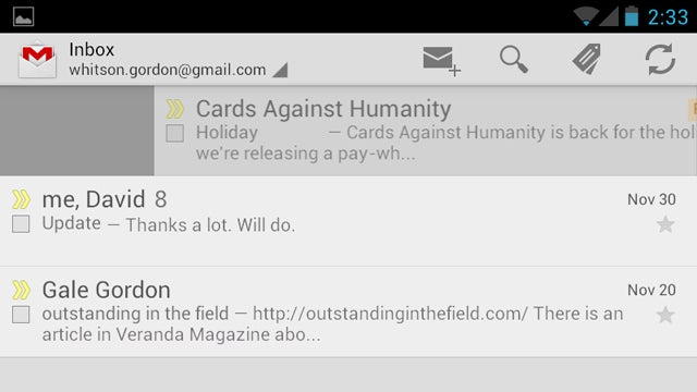 Gmail for Android Gets Pinch to Zoom, Swipe to Delete, and More