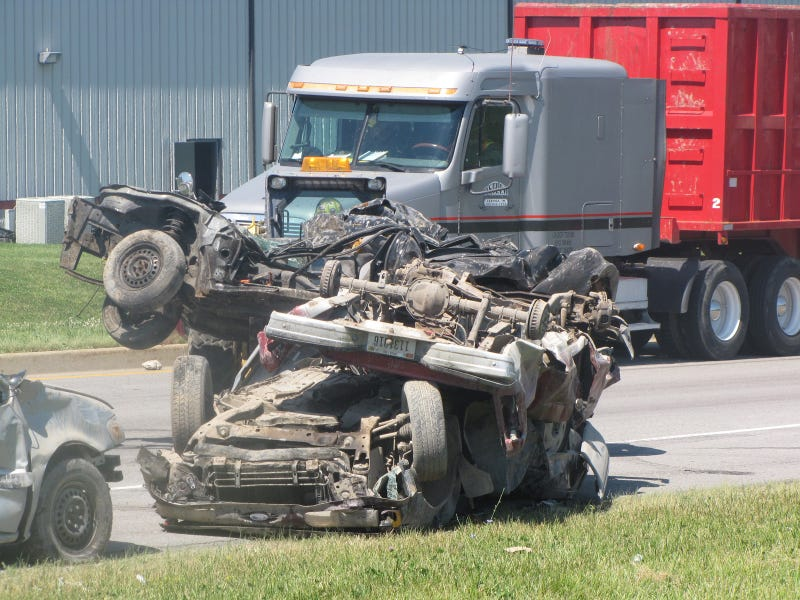 How did no one die in this horrific crash?