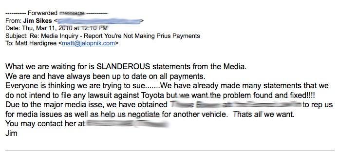"Did Bankrupt Runaway Prius Driver Fake ""Unintended Acceleration?"""