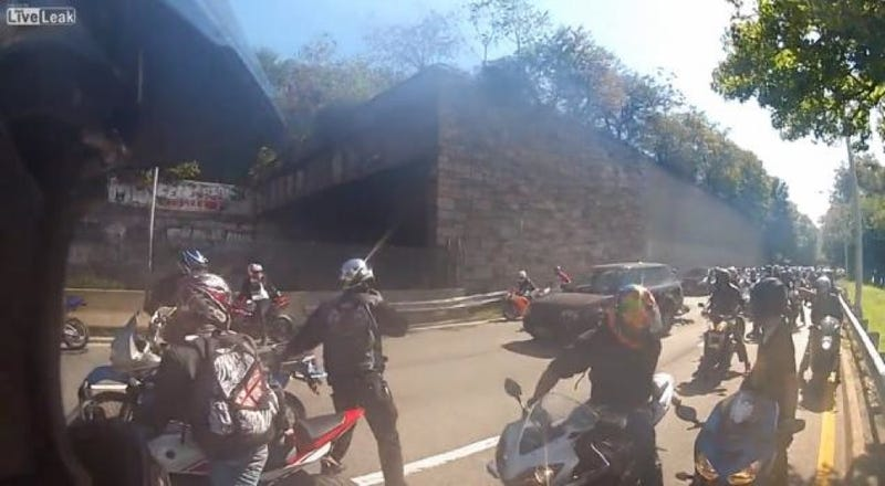 New Story of Motorcycle Rampage Emerges as One Biker Turns Self In