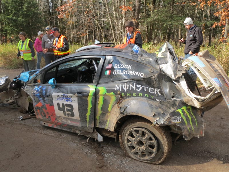 Ken Block crashed at Lake Superior Performance Rally...