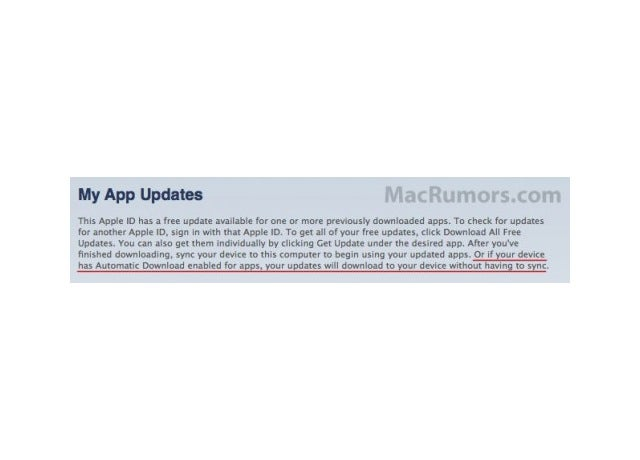 """Automatic Download"" iTunes Leak Hints at Wireless iOS App Updates, Less Syncing"