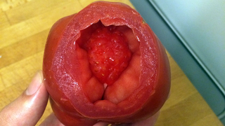 Does Anyone Know What the Hell Is Up With This Weird Tomato?