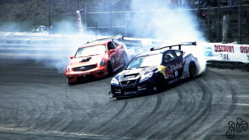 Formula D Grand Prix Murders Tires At The Wall