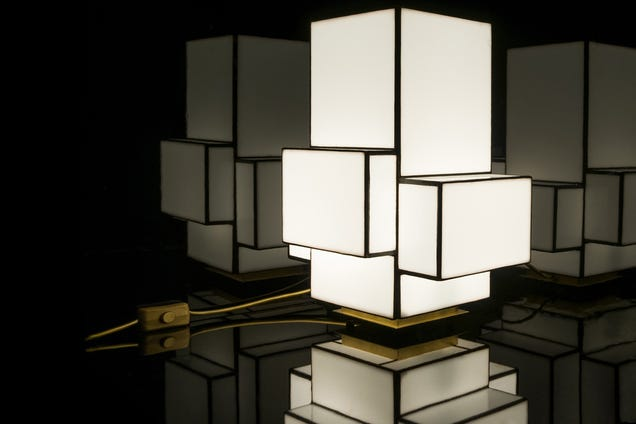These Minimalist Lamps Are Made With Century-Old Tiffany Technology