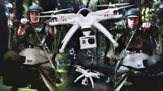You'll Swear You Are On Endor When You See These Drones Forest Racing