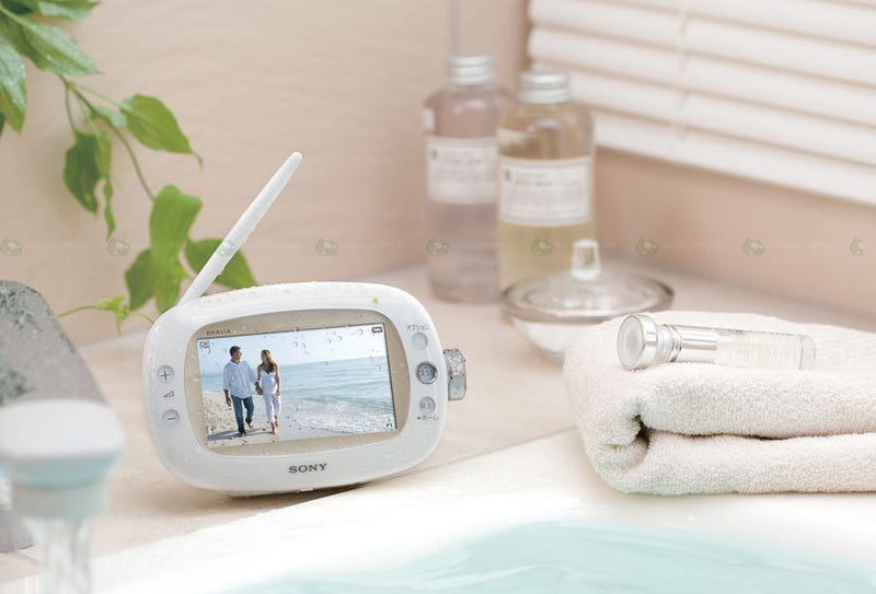 Sony's XDV-W600 Portable TV Does Something Like No Other Bravia: Goes Bathing