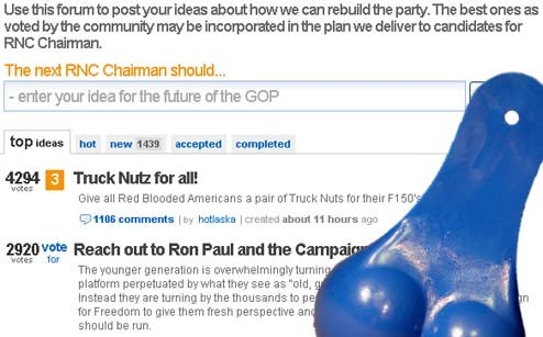 How To Rebuild The Republican Party: Truck Nutz For All!