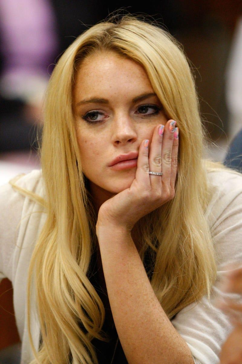 Did Lindsay Lohan Write 'F*** U' on Her Fingernail for Her Probation Hearing?