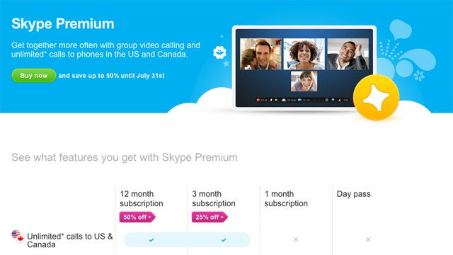 Skype Is Now Offering Half Off on Premium Calling Plans Through July