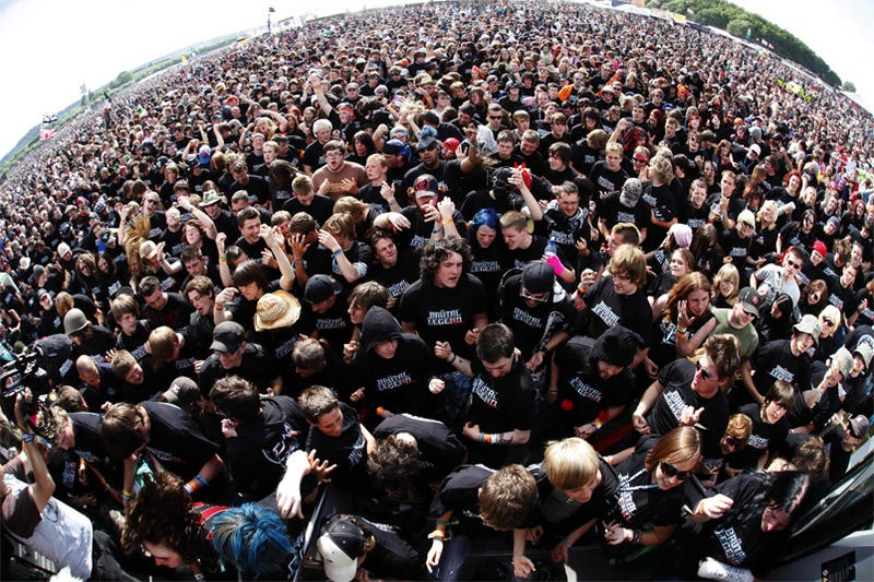 Brutal Legend Fans Set Air Guitar World Record