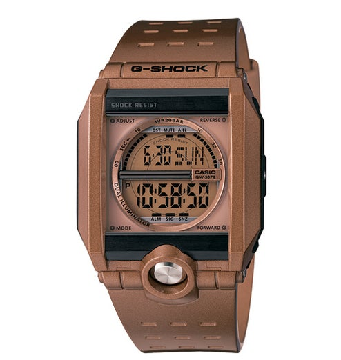 Casio G-Shock G8100A-5 Wristwatch is Barely Steampunk