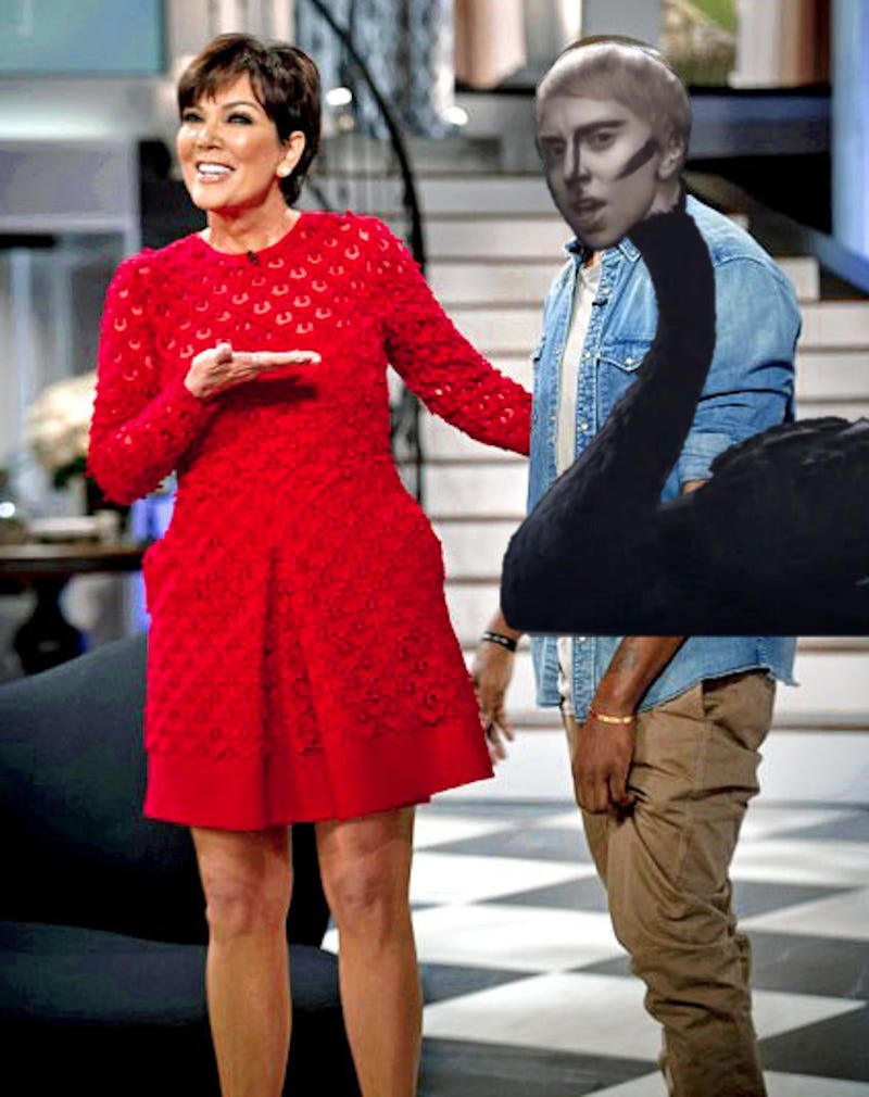 Photoshop This Image of Kris Jenner Presenting Kanye, Her Prize Sheep